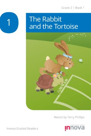 Innova Press The Rabbit and the Tortoise cover, rabbit and tortoise line up to start the race